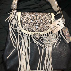 NWT Montana West Concealed Carry Fringe Purse Shoulder Bag